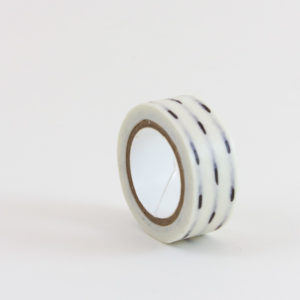 Washi Tape Blanca lineas negras